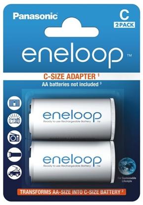 2 x Adaptor eneloop R14/C (z R6 AA na R14) 2BL