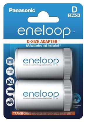 2 x Adaptor eneloop R20/D (z R6 AA na R20) 2BL