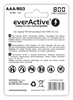 2 x akumulatorki everActive R03/AAA Ni-MH 800 mAh ready to use