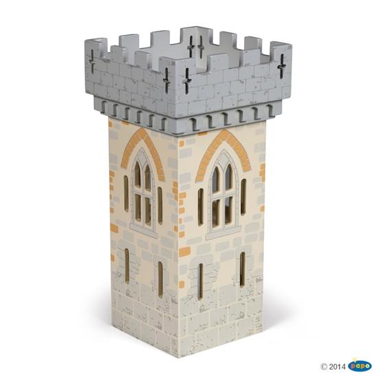 Papo 60020 Wieża duża do zamku Mistrza broni  15x15x31cm