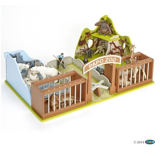 Papo 60107 Sceneria ogród zoologiczny  54x37x23cm