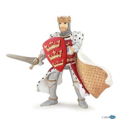 Papo 39950 Król Artur czerwony  8,5x9,5x8cm