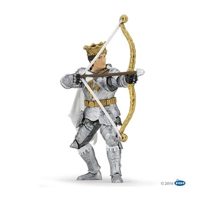 Papo 39796 Książę w srebrnej zbroi z łukiem   9,5x3,5x11,1cm