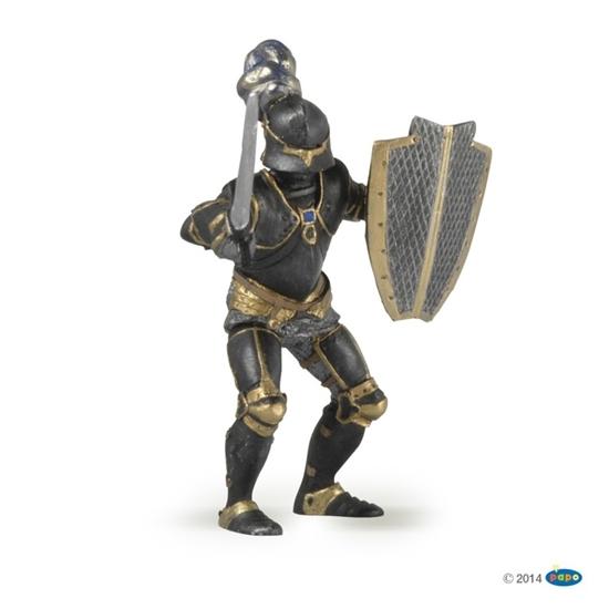 Papo 39275 Rycerz w czarnej zbroi  8,5x9,5x8cm