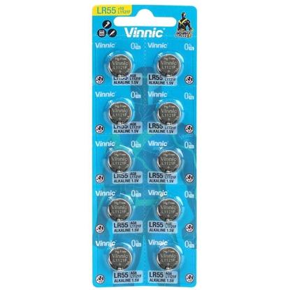 10 x bateria alkaliczna mini Vinnic G8 / AG8 / LR55 / LR1120
