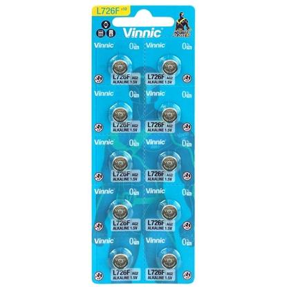 10 x bateria alkaliczna mini Vinnic G2 / AG2 / L726 / LR59