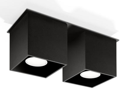 Aluminiowa lampa przysufitowa do salonu Sollux QUAD
