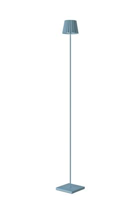 Aluminiowa lampa podłogowa niebieska LED Sompex Troll