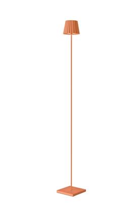 Aluminiowa lampa podłogowa pomarańczowa LED Sompex Troll