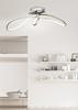 Lampa sufitowa srebrna plafon LED 38W biały 4000K Slash Candellux 10-69870