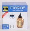 Lampa wisząca miedziana szklany lustrzany klosz Marina Candellux 31-51622