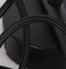 Czarna listwa z trzema 3 czarnymi przewodami zakończonymi szklanymi dekoracyjnymi chromowanymi kloszami Candellux Cox 33-53886