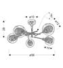 Lampa sufitowa wisząca żyrandol chromowy Ozzo Candellux 35-72252