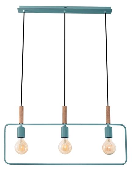 LAMPA SUFITOWA WISZĄCA CANDELLUX FRAME 33-73754 MIĘTOWY