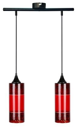 LAMPA WISZĄCA CANDELLUX PLAZMA 2X60W E27 CZERWONY
