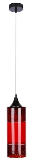 LAMPA WISZĄCA CANDELLUX PLAZMA  1X60W E27 CZERWONY