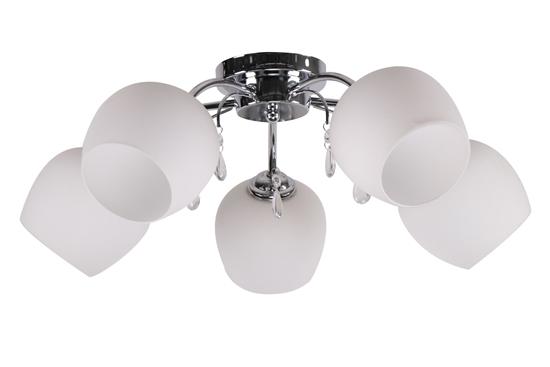 Zachera Lampa Sufitowa 5X40W E27 Biały