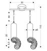 Lampa wisząca dwie tuby czarne z pierścieniami okręcanymi Candellux  2X50W GU10