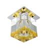 Oprawa Stropowa Candellux Sk-19 Ch/Or-P G4 Chrom Opr. Strop. Stała Kryształ 20W G4 Pomarańczowy Pasek