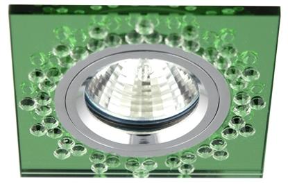 Oprawa Stropowa Candellux Ss-18 Ch/Gr Mr16 Chrom Opr. Strop. Stała Kwadratowa Szkło Zielone