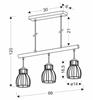Lampa wisząca czarna 3x60W Bernita Candellux 33-78087
