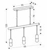 Lampa wisząca czarna + drewno 3x60W Izzy Candelux 33-78063