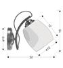 Kinkiet chromowy pojedynczy biały Amba Candellux 21-77028