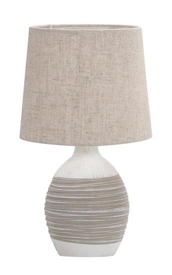 Lampa stołowa nocna beżowa ceramiczna Ambon Candellux 41-78407