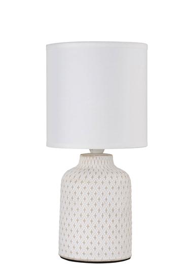 Lampa stołowa biała ceramika nocna Iner Candellux 41-79848