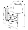 Kinkiet biały chrom/drewno regulowany 40W E27 Mito Candellux 21-75437