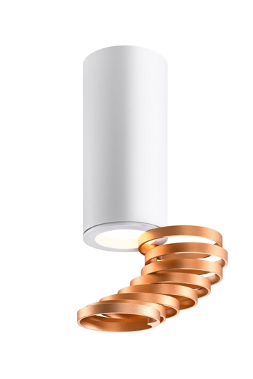 Lampa sufitowa złoty+biały 6x20cm Tuba Candellux 2276076
