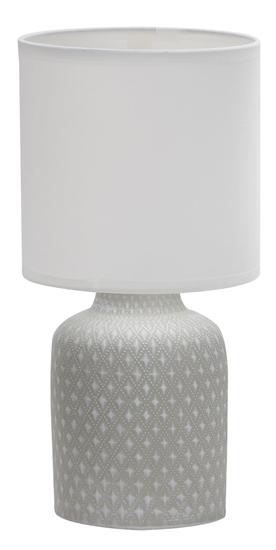 Lampa stołowa szara ceramika nocna Iner Candellux 41-79886