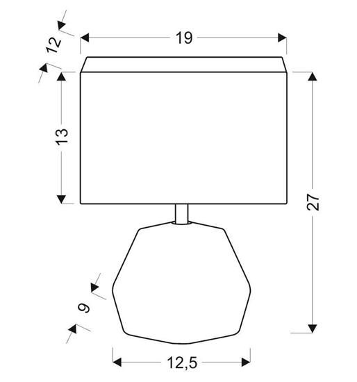 Lampa biurkowa gabinetowa jasno szara Animi Candellux 41-79930