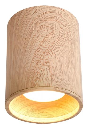 Lampa sufitowa drewniana 7,9x10cm GU10 Tuba Candellux 2277165