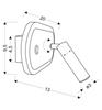 Kinkiet LED do czytania czarny matowy regulowany Miracle Candellux 22-75796