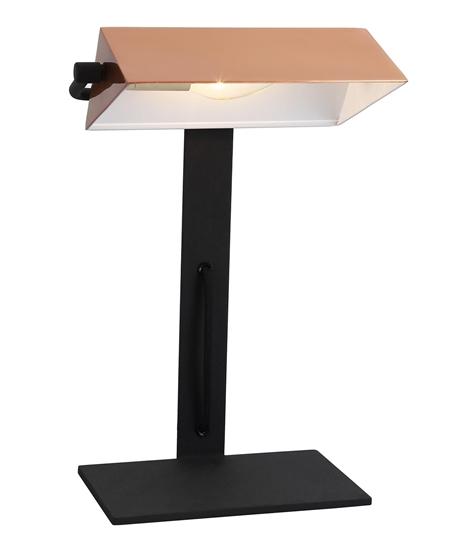 Lampa gabinetowa biurkowa miedziana Bankier Candellux 41-78346