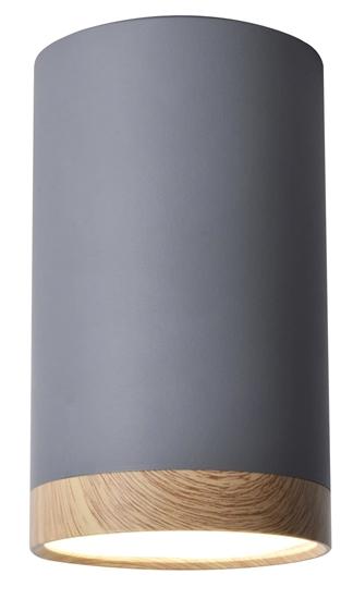 Lampa sufitowa szaro-drewniana 8,8x15cm Tuba Candellux 2282879