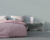 Lampa stołowa różowa ceramika nocna Iner Candellux 41-79855