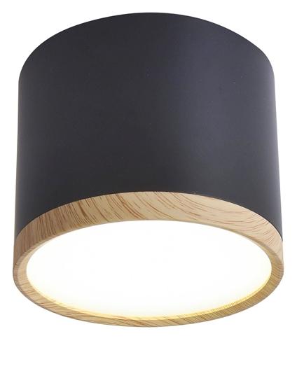 Lampa sufitowa czarno-drewniana 8,8x7,5cm Tuba Candellux 2275949