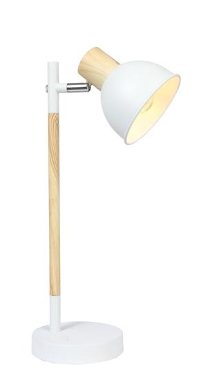 Lampa gabinetowa biała + drewno Bondo Candellux 41-80011