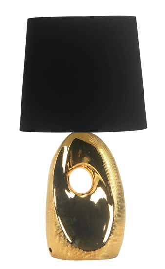 Lampa gabinetowa biurkowa złota ceramiczna Hierro Candellux 41-79916