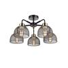 Altalusse Lampa sufitowa INL-6144C-05 Matt Black & Antique Brass