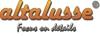 Altalusse Lampa sufitowa INL-9215C-04 Antique brass & Walnut