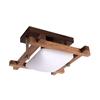Altalusse Lampa sufitowa INL-3092C-01 Antique brass & Walnut