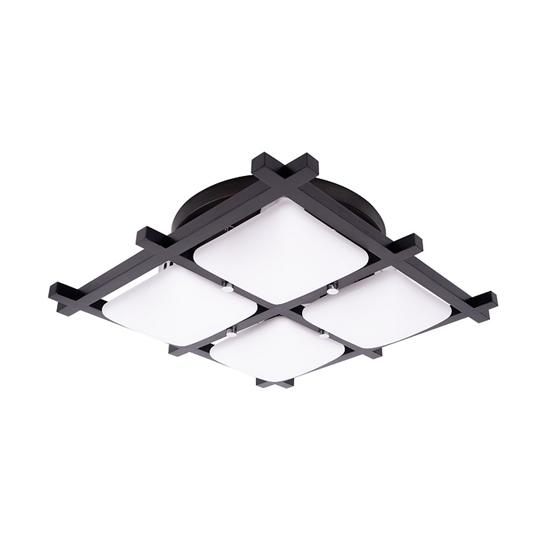 Altalusse Lampa sufitowa INL-3092C-04 Chrome & Dark wengue