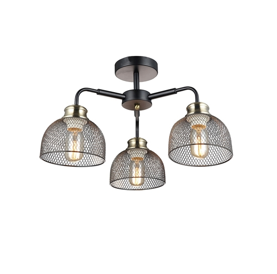 Altalusse Lampa sufitowa INL-6144C-03 Matt Black & Antique Brass