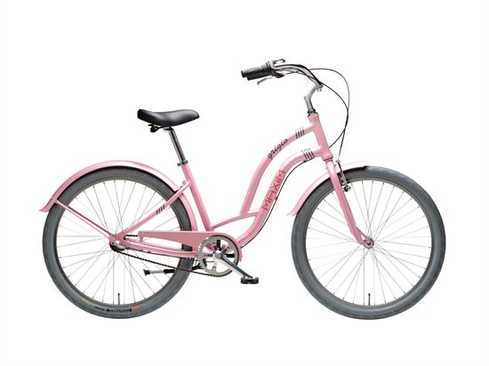 """Rower MAXIM 26"""" Grigio 3-s różowy"""