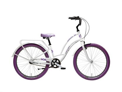 """Rower MAXIM 24"""" Violetto 3-s biały"""