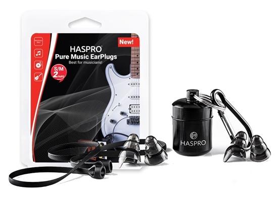 HASPRO PURE MUSIC UNIVERSAL BLACK - Zatyczki do uszu dla muzyków