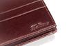 Balticus - portfel ze skóry cielęcej, brązowy z przetłoczeniem